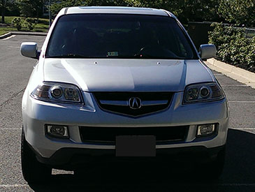 Unity Global Ventures Car Hire - Acura MDX Front